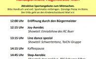 17. Marler Frauensporttag am 18. Februar 2018
